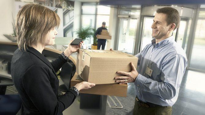 Private Pakete an den Arbeitsplatz liefern